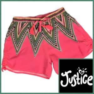 Justice Girl's Tribal Print Shorts Size 10